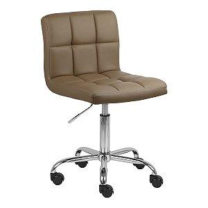 Cadeira Noruega Castanho em PU Base Rodízio