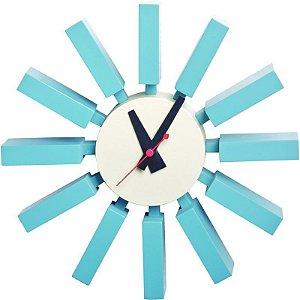 Relógio de Parede Venus Azul