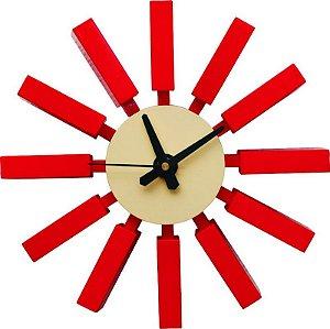 Relógio de Parede Venus Vermelho