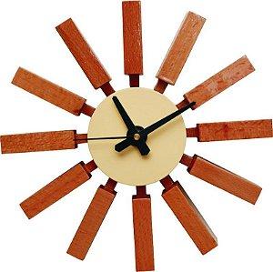 Relógio de Parede Venus Marrom