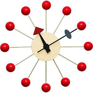 Relógio de Parede Eros Vermelho
