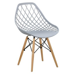 Cadeira Marine Cinza Claro Wood em PP