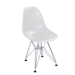 Cadeira New Branca em Abs Infantil Base Cromada