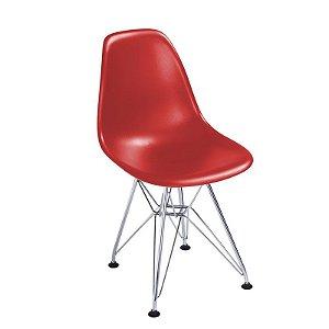 Cadeira New Vermelha em Abs Infantil Base Cromada
