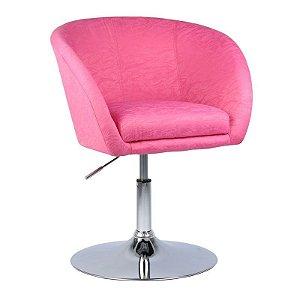 Poltrona Bélgica Pink em Jacquard Base Disco