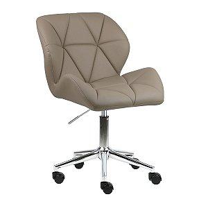 Cadeira Australia Nude em PU Base Estrela Rodízio