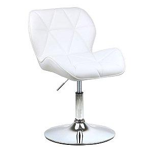 Cadeira Moscou Branco em PU Base Disco