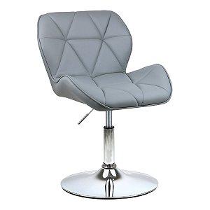 Cadeira Moscou Cinza Claro em PU Base Disco