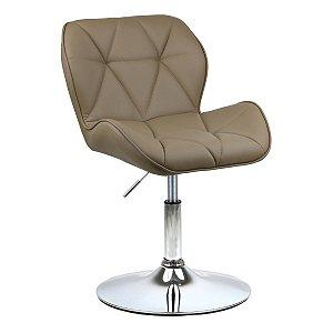 Cadeira Moscou Nude em PU Base Disco