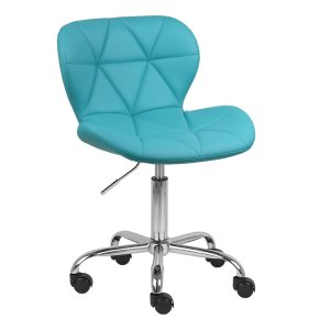 Cadeira Espanha Azul Tiffany Base Rodízio