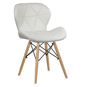 Cadeira Slim Palha base madeira