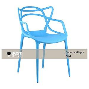 Cadeira Masters Allegra Azul em Polipropileno