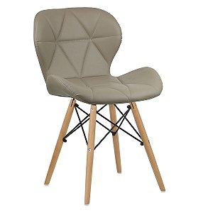 Cadeira Slim Nude base madeira