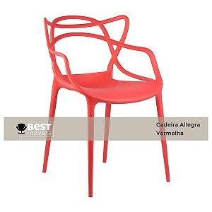 Cadeira Masters Allegra Vermelha em Polipropileno