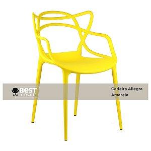 Cadeira Masters Allegra Amarela em Polipropileno