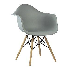 Cadeira Cinza Claro Charles Eames Wood Daw em PP