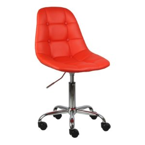 Cadeira Panamá Vermelha em PU