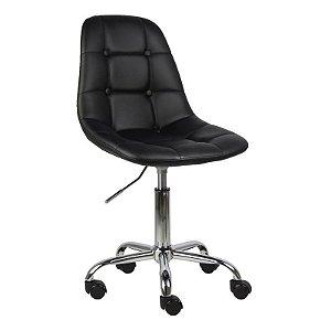 Cadeira Panamá Preta em PU