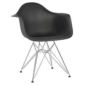 Cadeira Preta Charles Eames DAR em PP