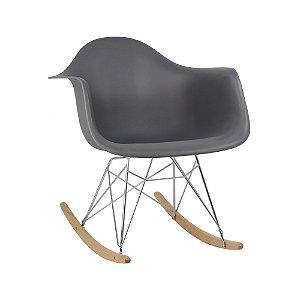 Cadeira Cinza Escuro Charles Eames Balanço DAR em PP