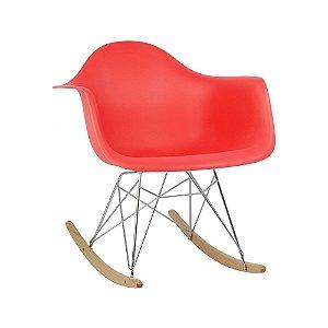 Cadeira Vermelha Charles Eames Balanço DAR em PP