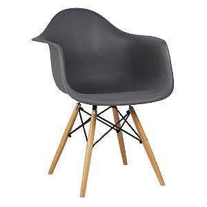 Cadeira Cinza Charles Eames Wood Daw em PP
