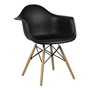 Cadeira Preta Charles Eames Wood Daw em PP