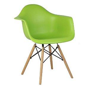 Cadeira Verde Charles Eames Wood Daw em PP