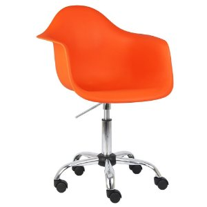 Cadeira Laranja Charles Eames Office Dar em PP