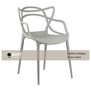 Cadeira Masters Allegra Cinza Claro em Polipropileno