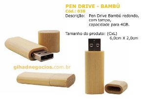 Pen Drive Bambu 038  - MAIS MODELOS