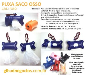 PUXA SACO OSSO  -  PORTA COMPRIMIDOS 1326 - Mais Modelos de Injetados
