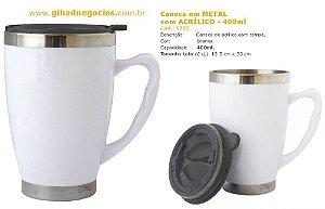 Caneca Metal com ACRILICO  6520  - MAIS MODELOS