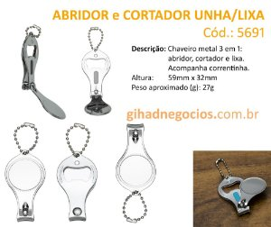 Chaveiro METAL 12972   5691 - MAIS MODELOS