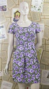 Vestido Margaridas Lilás
