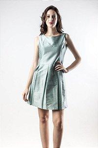 Vestido Tafetá Verde Malva - Linha Happen WM