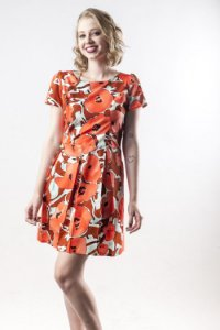 Vestido Abstract Orange