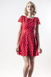 Vestido Love Dogs Red