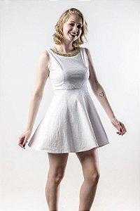 Vestido Brocado Branco - Linha Happen WM