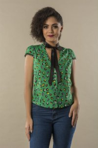 Camisa Green Leopard