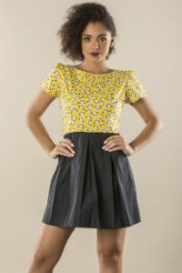 Vestido Love Pandas Yellow