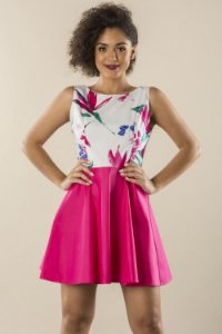Vestido Floral Pink Aquarela