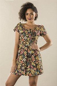 Vestido Floral Summer Black