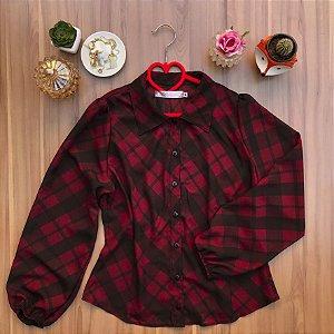 Camisa Tartan Burgundy