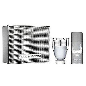Kit Perfume Invictus EDT 100ml + Desodorante 150ml - Paco Rabanne