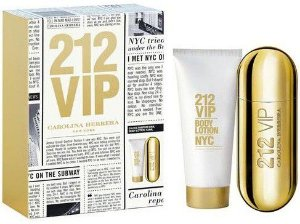 Kit Perfume 212 Vip EDP Feminino 80ml + Body lotion - Carolina Herrera