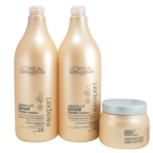 Kit L'Oreal Absolut Repair Cortex Lipidium - 1,5L ( 3 produtos)