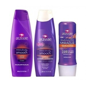 Kit Aussie Smooth Shampoo + Condicionador + Mascara 3 Minute