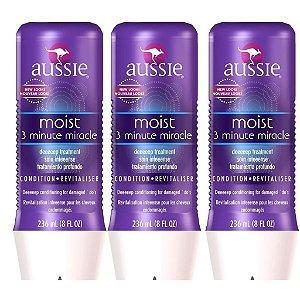 Kit Aussie Moist  Mascara 3 Minute - 3 produtos