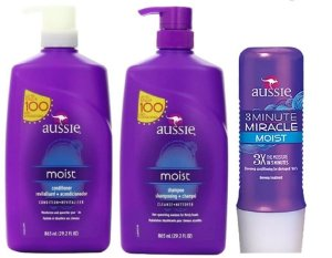 Kit Aussie Moist Shampoo + Condicionador + Mascara 3 Minute - 865ml